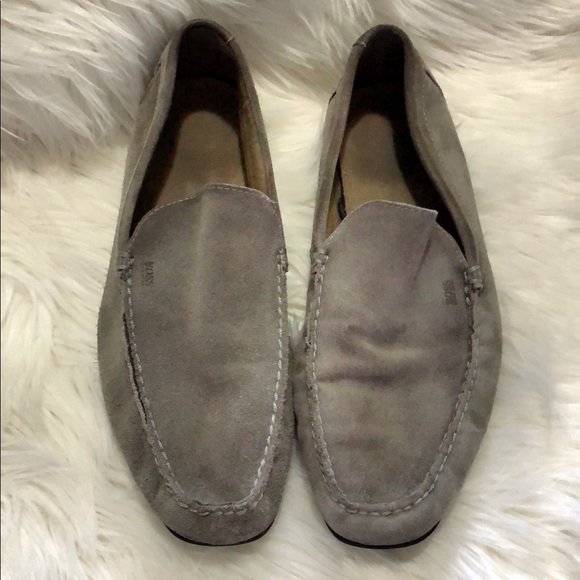 d19818fa951 Hugo Boss Other - Hugo Boss Suede Driving Loafer Leather Dark Grey